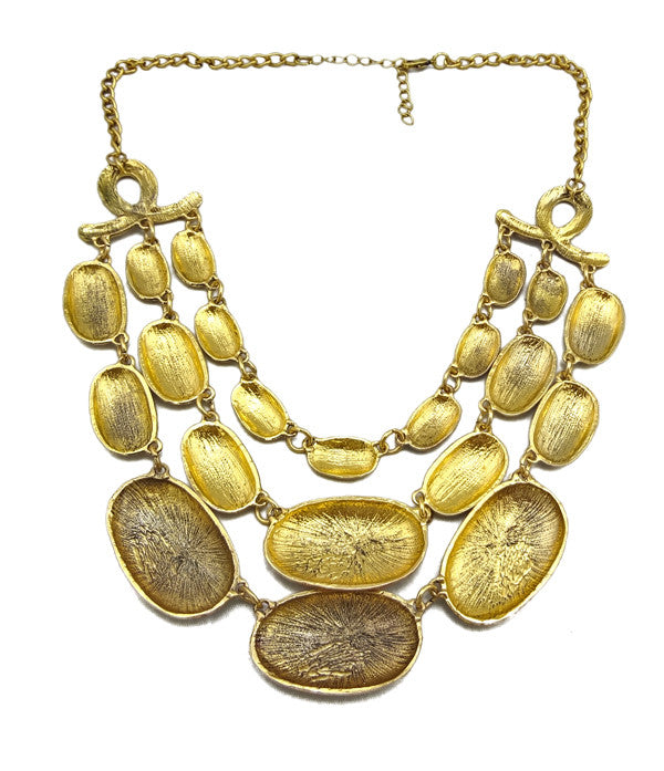 Beaten golden layer necklace | I Love Tunics | Tunic Tops | Tunic Dresses | Women's Tops | Plus Size Australia | Mature Fashion
