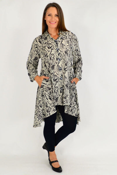 Rachel Printed Tunic Shirt