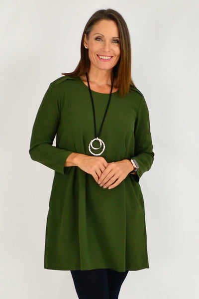 Khaki Mia Long Tunic