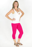 Pink Cotton 3/4 Leggings - at I Love Tunics @ www.ilovetunics.com = Number One! Tunics Destination