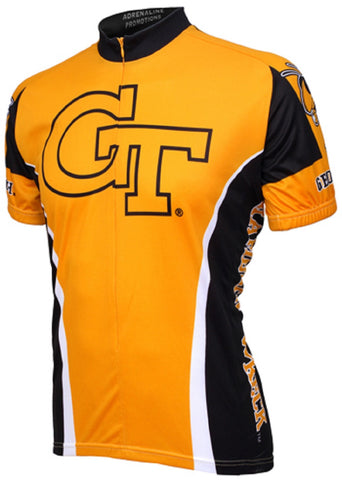NCAA Men's Adrenaline Promotions Georgia Tech Yellow Jackets Road Cycling Jersey