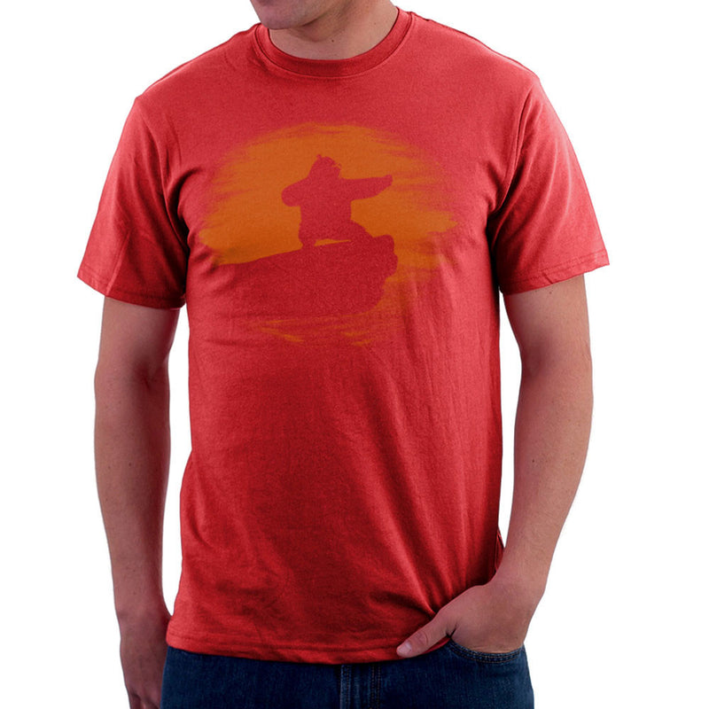 Kung Fu Panda Silhouette Sunset Men's T-Shirt by Sillicus - Cloud City 7