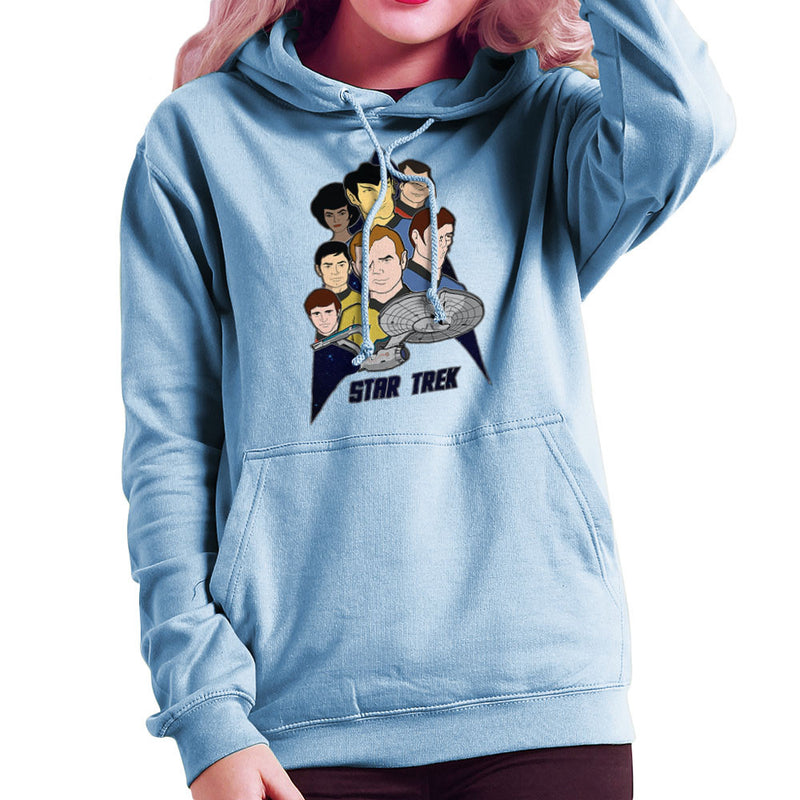 Star Trek the Animated Series Captain Kirk Spok Women's Hooded Sweatshirt by DeMilburn - Cloud City 7