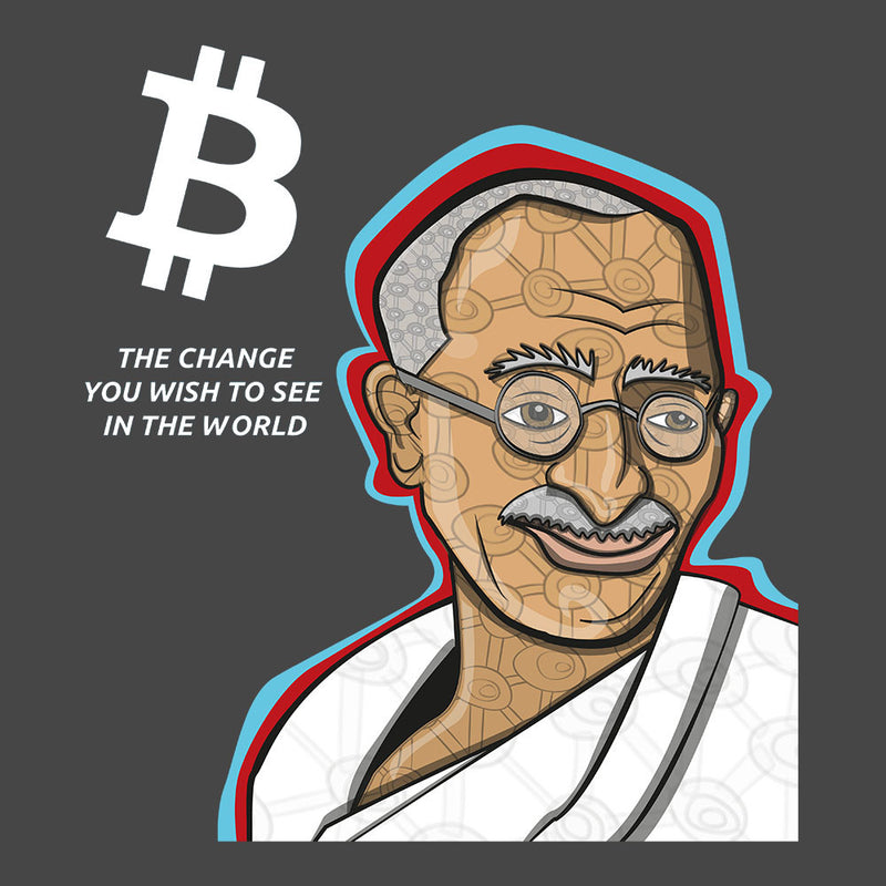 B the Change Gandhi Bitcoin by Toonpunk - Cloud City 7
