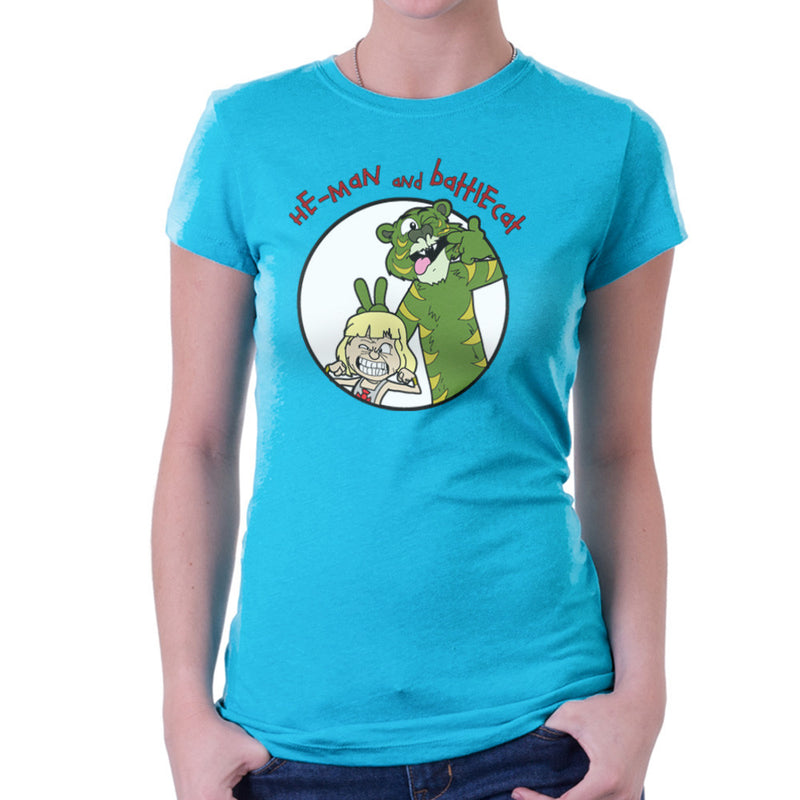He Man and Battle Cat Calvin and Hobbes Women's T-Shirt by TopNotchy - Cloud City 7