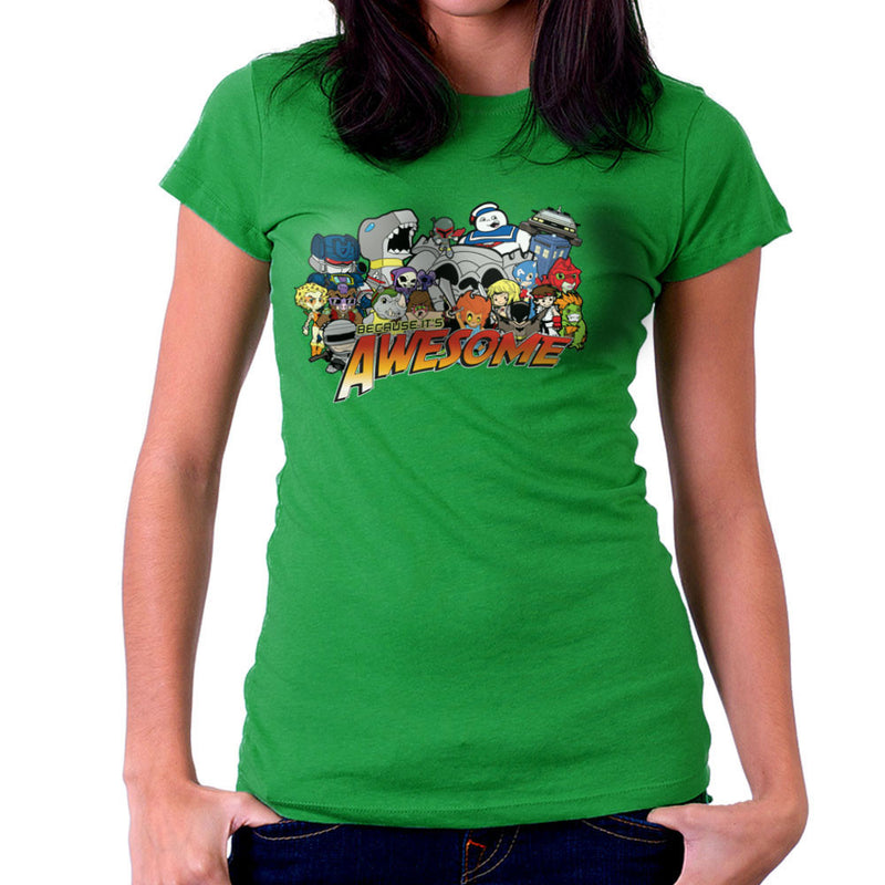 The Eighties Because its Awesome Women's T-Shirt by TopNotchy - Cloud City 7