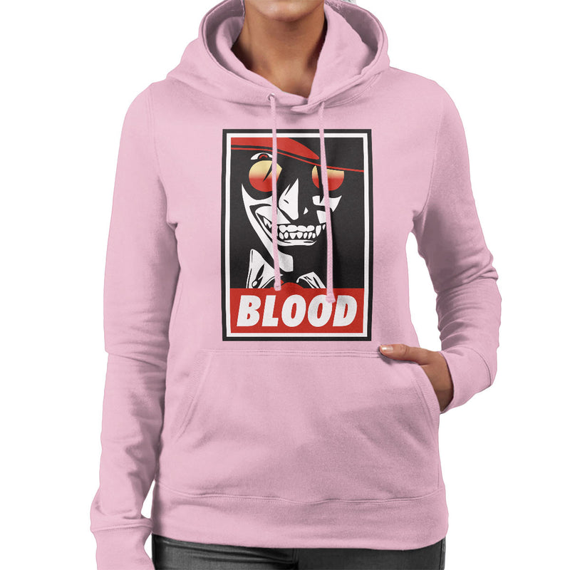 Blood Obey Hellsing Women's Hooded Sweatshirt by Karlangas - Cloud City 7