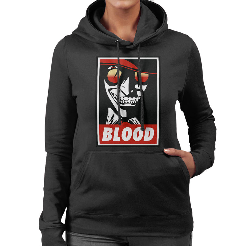 Blood Obey Hellsing Women's Hooded Sweatshirt