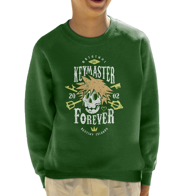 Key Master Forever Sora Kingdom Hearts Kid's Sweatshirt by Olipop - Cloud City 7