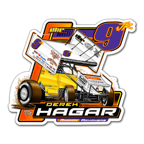 "Derek Hagar ""Tradition of Speed"" Decal"