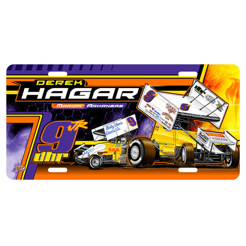 "Derek Hagar ""Tradition of Speed"" License Plate"