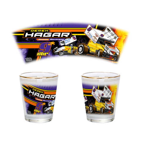 "Derek Hagar ""Tradition of Speed"" Shot Glass"