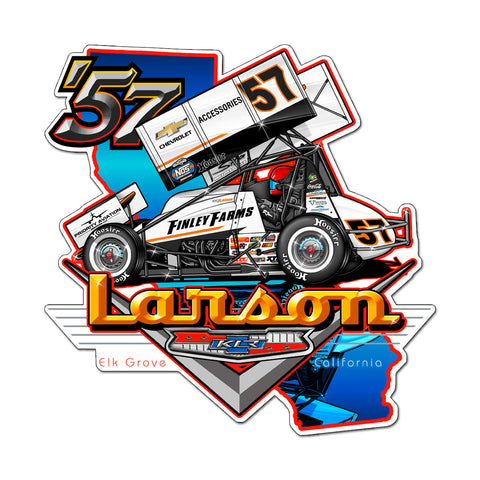 "Kyle Larson ""'57 Chevy"" Decal"