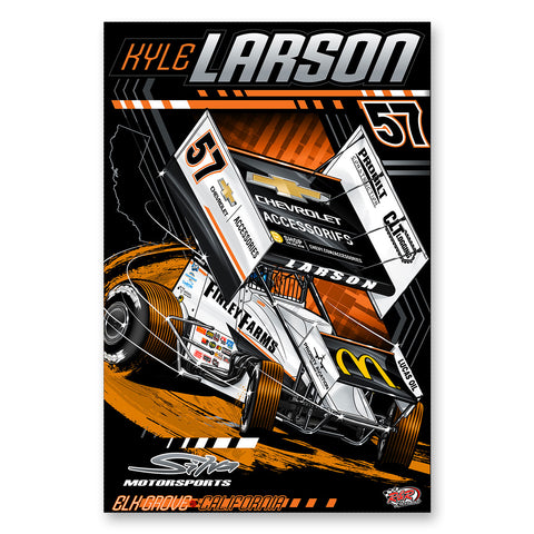 "Kyle Larson ""Anomaly"" Poster"
