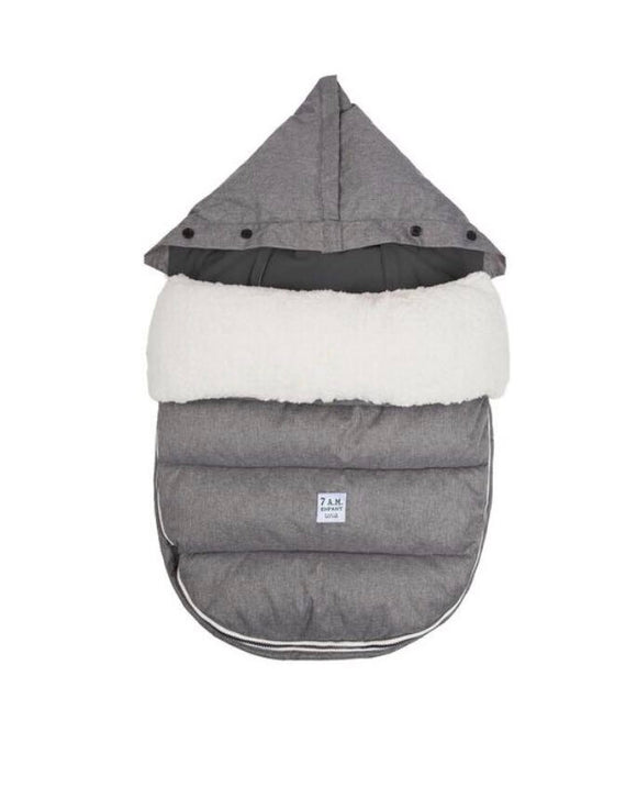 7 AM LAMBPOD Small/Medium Heather Grey Baby Bunting