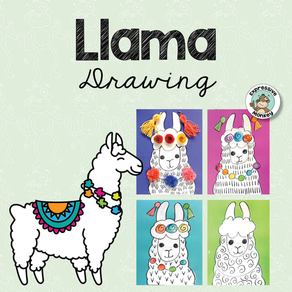 Llama Drawing & Art Activity