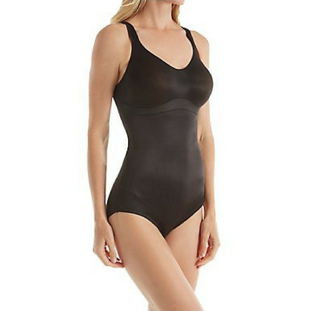 Miraclesuit Flexible Fit Wire Free Slimming Bodysuit Black Front View