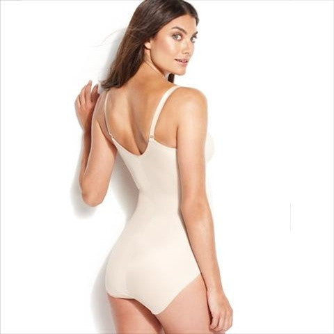 Miraclesuit Comfort Leg All In One Bodysuit In Natural Back View