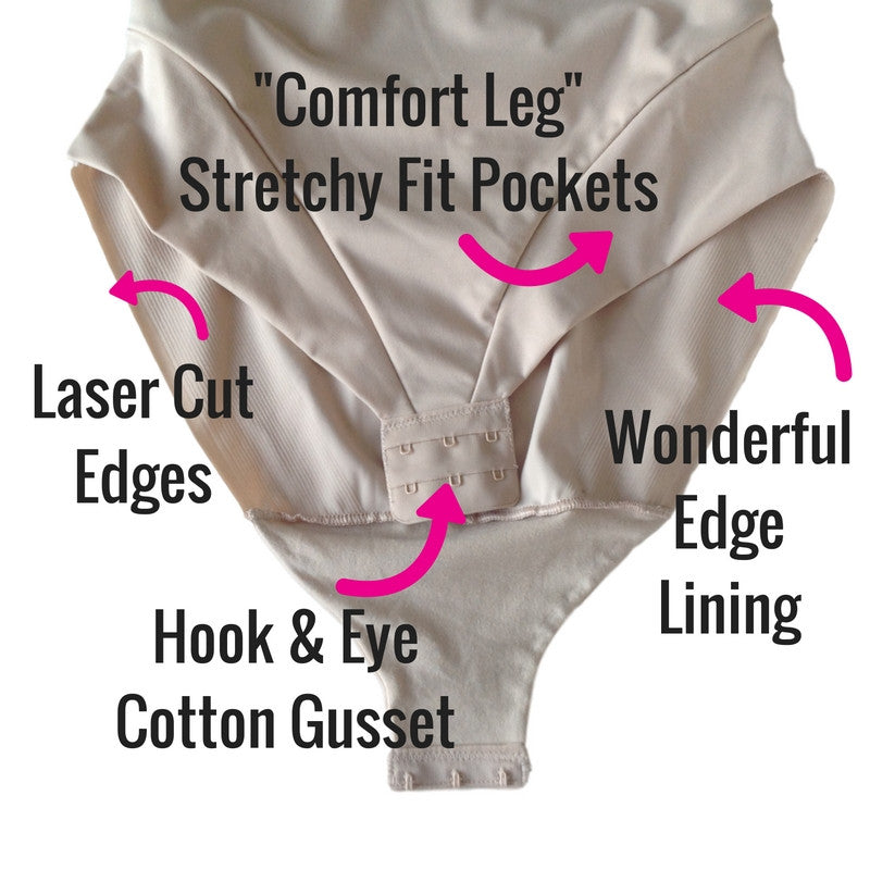 Miraclesuit Comfort Leg Molded Cup All In One Bodysuit - Extra Firm Control - 2802 - Gusset and Legs
