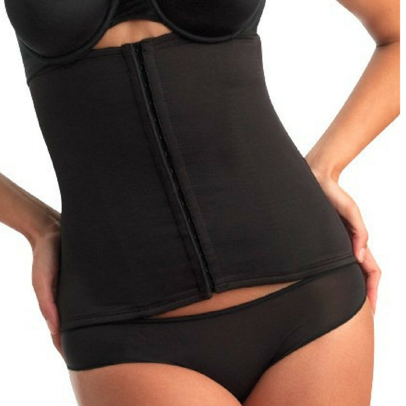 miraclesuit inches off waist cincher black front 2615