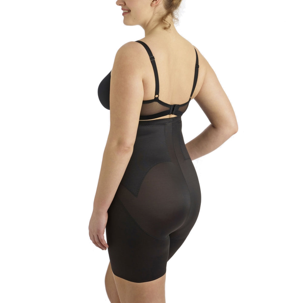 Miraclesuit Flexible Fit Plus Size High Waist Thigh Slimmer 2939 Black Back