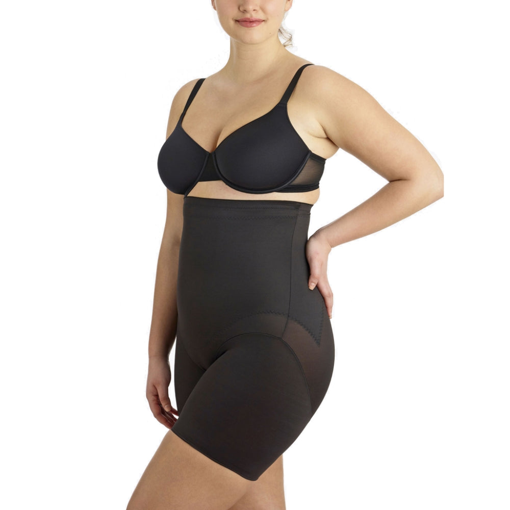 Miraclesuit Flexible Fit Plus Size High Waist Thigh Slimmer 2939 Black