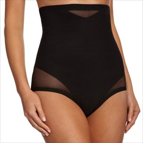 Miraclesuit Sexy Sheer Shaping High Waist Control Briefs In Black