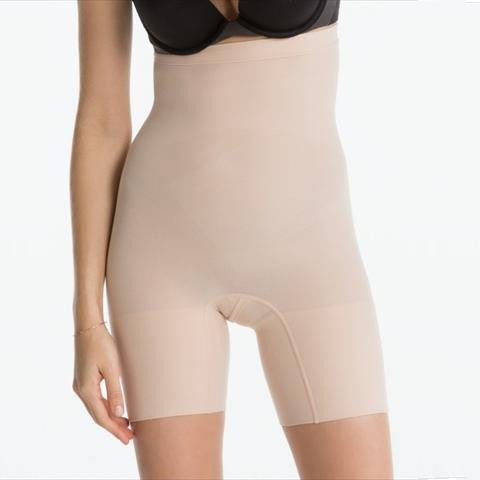 Spanx Higher Power Short In Natural Front View