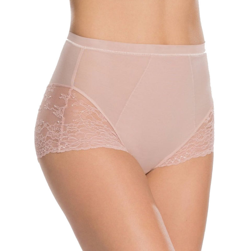 Spanx Spotlight On Lace Firm Control Briefs Vintage Rose Front View