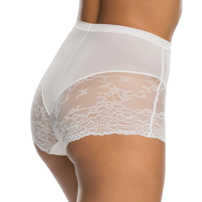 Spanx Spotlight On Lace Firm Control Briefs White Back View