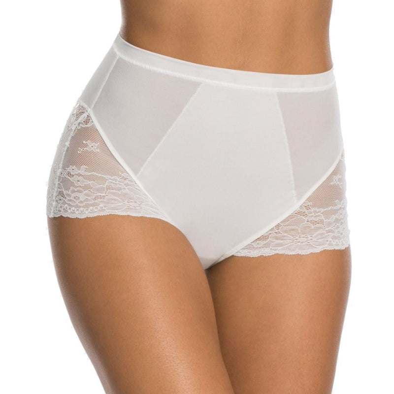 Spanx Spotlight On Lace Firm Control Briefs White Front View
