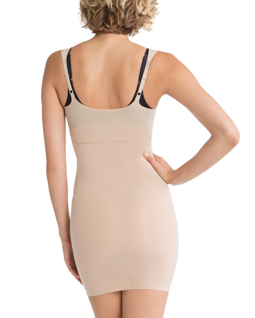 Spanx Shape My Day Open Bust Shapewear Slip - SS0215 Nude Back View