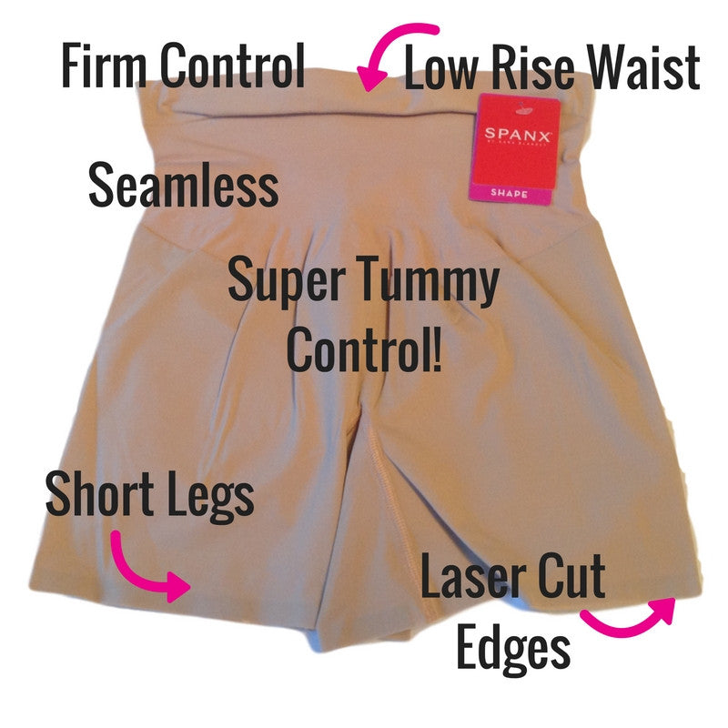 Spanx Shape My Day Slimming Girl Shorts SS7215 Front View