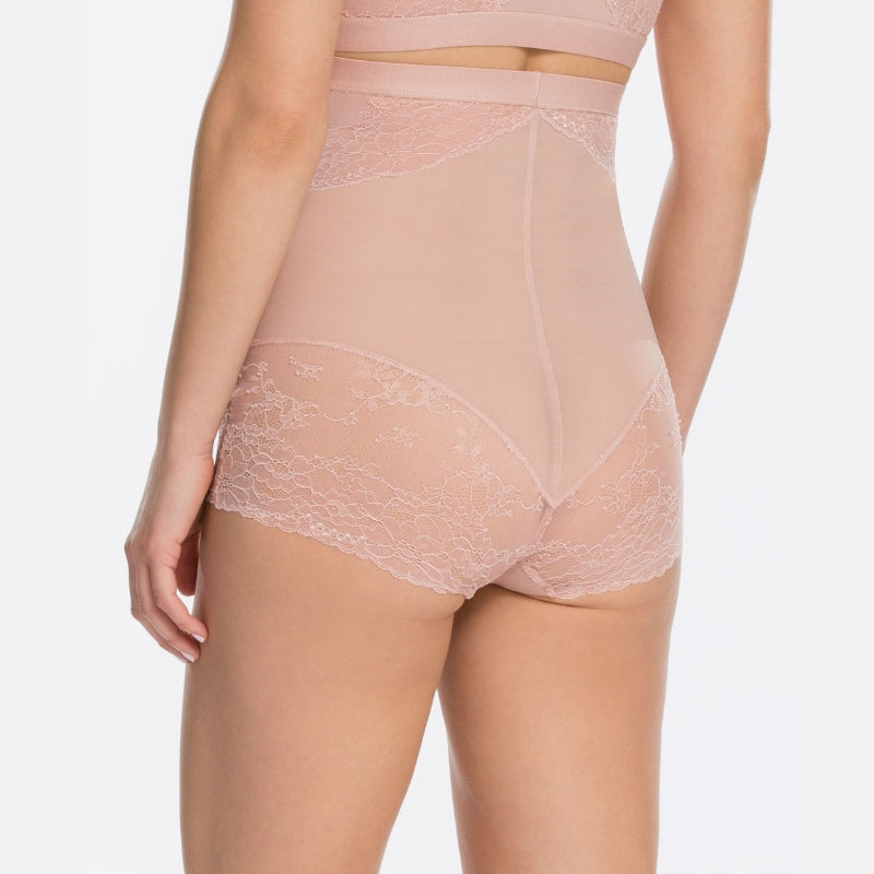 Spanx Spotlight On Lace Firm Control Briefs Vintage Rose Back