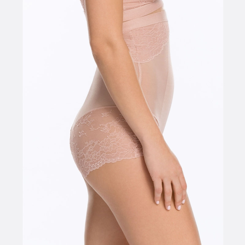 Spanx Spotlight On Lace Firm Control Briefs Vintage Rose Side