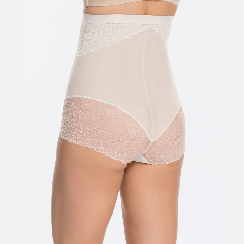 Spanx Spotlight On Lace Firm Control Briefs White Back