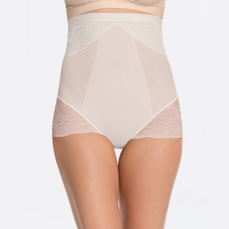Spanx Spotlight On Lace Firm Control Briefs White Front