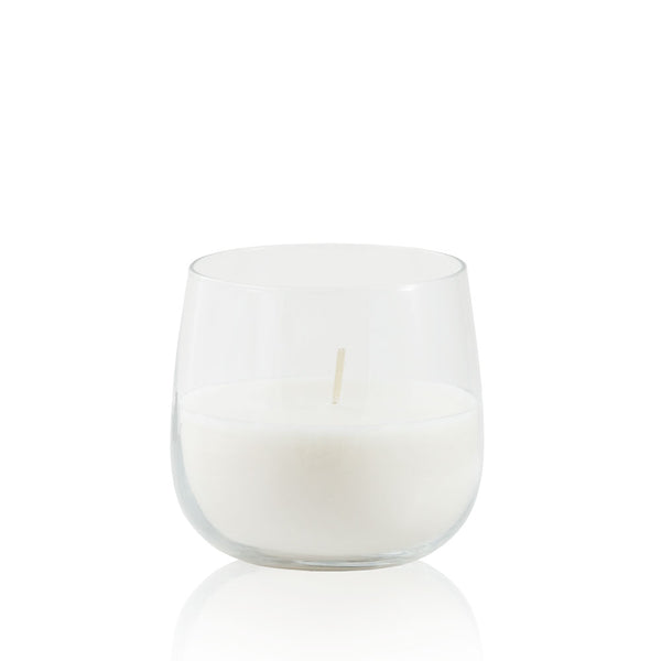 Clear Candle Holder with Blanc Candle
