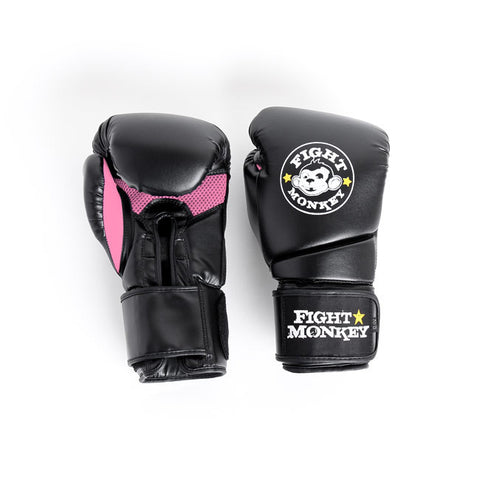 Fight Monkey 12oz Training Gloves - Pink