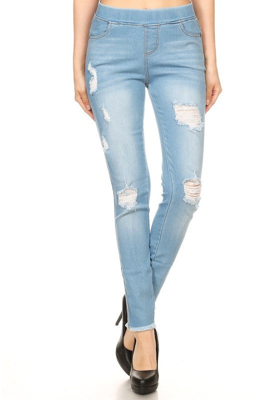Light Distressed Denim-1 LEFT!