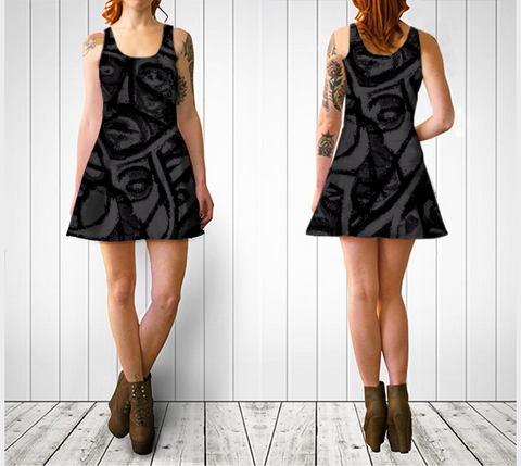 Charlee The Messenger Flare Dress in BW