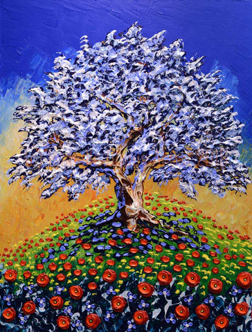 Gracious Olive Tree of Bright Meadows Original 40x30""
