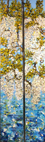 Wisteria Celebration - Diptych