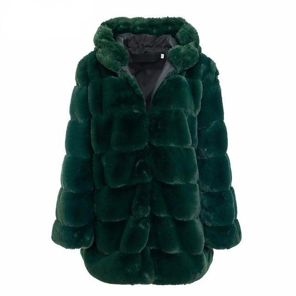 JILI Faux Fur Long Coat