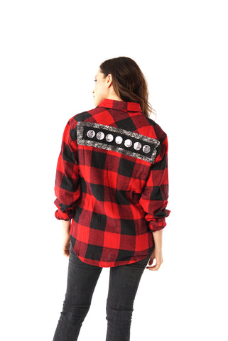 ''The Pretty Cult'' Plaid Long-Sleeve Button Down Flannel