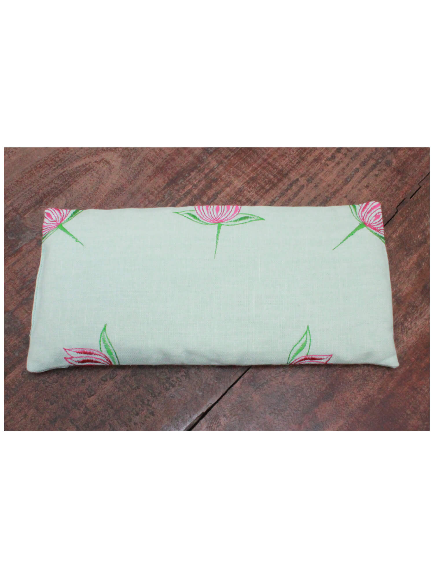 NECK WARMER PILLOW | FROSTED MINT LOTUS