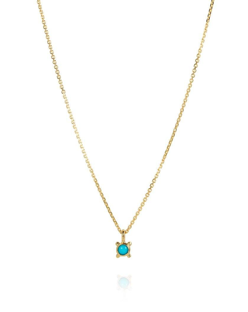 Sea Dot Necklace Turquoise