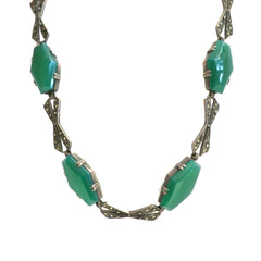 Art Deco Chrysoprase Necklace