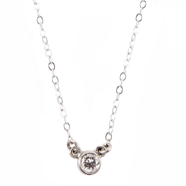 Stationary Diamond Pendant