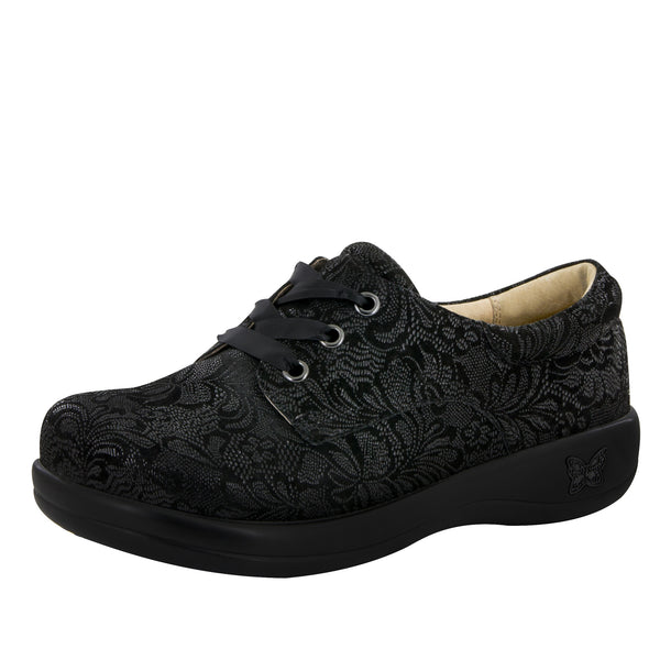 Kimi Black Leaf Professional Shoe - Alegria Shoes - 1